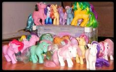 My Little Pony (loved the cartoon, but I really loved all My Little Pony dolls...I had SO MANY!!)  :-)