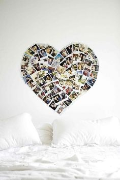 Photo heart. Wedding pics, in the bedroon. Perfect!