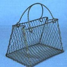 Black Wire Handbag Centerpiece