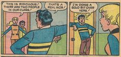 Betty Cooper, Dilton Doily and Reggie Mantle at Riverdale High, The Snow Day, 1974.