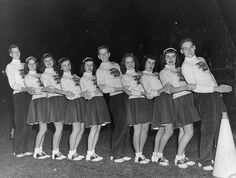 The Pep Squad: A stylishly attired squad of high school guys and gals. 1950s