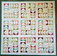 Simply Pieced: flying geese quilt