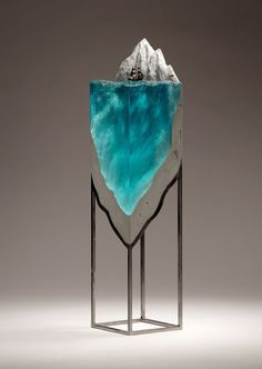 Layered Glass Sculptures By Ben Young Art Pinterest Layering - Incredible layered glass table mimics oceans depths