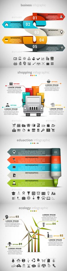 4 in 1 Infographics Templates Bundle. Download here: http://graphicriver.net/item/4-in-1-infographics-bundle/14934045?ref=ksioks