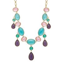 """Roberto by RFM Multicoloured Stone 18"""" + 2"""" Necklace"""