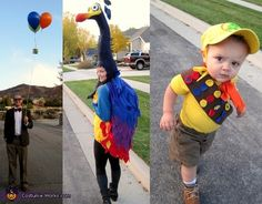 Mr. Fredrickson, Kevin, and Russel from Up. Mr. Fredrickson, Kevin & Russel - Homemade costumes for families