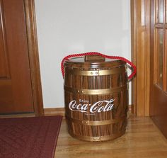 Vintage Coca Cola Cooler Keg Barrel Ice Chest por That70sShoppe