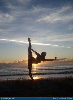 "#Yoga Poses Around the World: ""Dancer Pose, by Laura H., Gold Coast, Australia"""