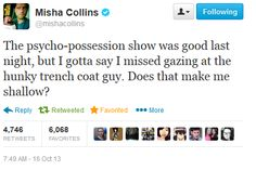 "Misha Collins on Twitter after Supernatural 9x02 ""Devil May Care"""