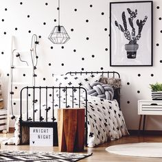 Pom le Bonhomme Black Dots Wall Stickers - Wall Stickers - Home & Sleep Wall Stickers Home, Wall Decals, Newborn Sleeping Bag, Black Dots, Toy Boxes, Your Child, Fun Crafts, Playroom, Kids Room