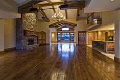 Ohh. Pretty walnut/hickory floors. They are shinier then I have been considering...
