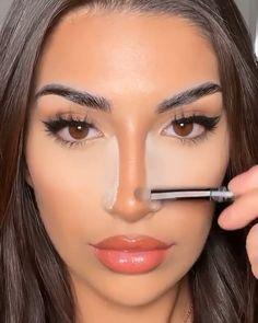 Smoke Eye Makeup, Nose Makeup, Makeup Eye Looks, Contour Makeup, Eyebrow Makeup, Eyeshadow Makeup, Hair Makeup, Matte Makeup, Nose Contouring