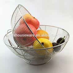 Factory Direct Kitchenware Whole Circle Bottom Stainless Steel Vegatable Basket Fruit Basket Kitchenware, Tableware, Stainless Steel Cutlery, Basket, Fruit, Dinnerware, Tablewares, Kitchen Gadgets, Dishes