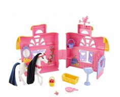 Disney Princess Royal Stable Cinderella Playset: The Disney Princesses now have a royal stable where their horses can get the royal treatment. Stables open up to reveal an entire area so girls can groom, feed and play with their horse using loads of piece-count accessories. | eBay!