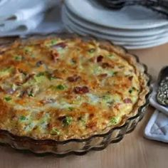 Meat Lovers Quiche Recipe is for those who love a more hearty meal. This quiche with eggs bacon sausage ham green onions and shredded cheese will be a very filling and satisfying dinner for your family. Healthy Breakfast Casserole, Breakfast Quiche, Egg Recipes For Breakfast, Sausage Breakfast, Brunch Recipes, Breakfast Ideas, Breakfast Burritos, Breakfast Skillet, Breakfast Buffet