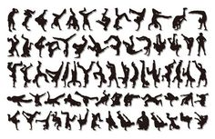Hip Hop Silhouettes. These are great for cake decorations or enlarged as decorations.