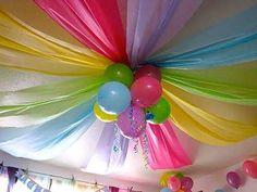 Decoração de Festas By Catia Lins: Festa econômica usando TNT