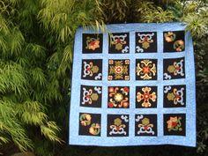 Manta floral (Adaptado de Fat Cat Patterns) - By Rosana Zimmermann