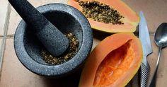 Semillas de papaya para un intestino, hígado y riñón fortalecidos
