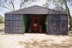 Our shipping container shed finished using 2 twenty foot containers diy built will add a roller door to centre section.