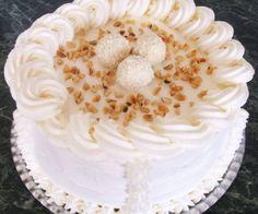 Vanilla Cake, Panna Cotta, Pie, Sweet, Food, Ideas, Yummy Cakes, Mascarpone, Raffaello