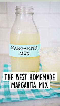 Homemade Margarita Mix, Homemade Margaritas, Margarita Recipes, Party Drinks, Cocktail Drinks, Cocktail Recipes, Vodka Lemonade Drinks, Brunch Drinks, Cheers