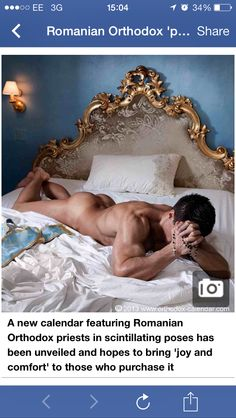 Romanian Orthodox priests strip off for steamy gay calendar Orthodox Calendar, Orthodox Priest, Men In Bed, Calendar 2014, Hommes Sexy, Gay Art, Colorful Pictures, Male Body, Gorgeous Men