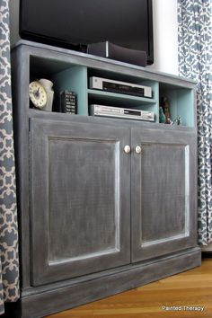 Ana White | Build A Tall Corner Media Console | Free And Easy DIY Project  And