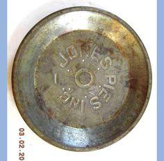 Vintage Jones Pie Tin w Air Holes Primitive Kitchen Bakeware | eBay