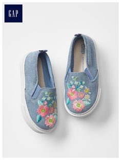 1969 chambray slip-on sneakers