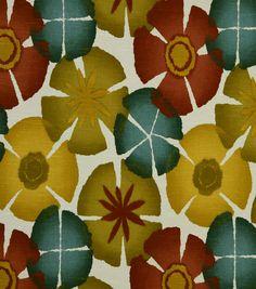 Robert Allen @ Home Print Fabric-Pure Petals Pomegranate