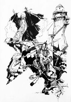 #pencil and black ink - tribute to Victor De La Fuente