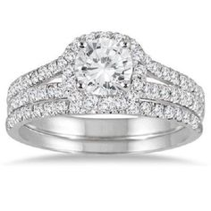 1.50 carats Round halo Brilliant cut Solitaire Engagement Ring 14K White gold #Jewelsbyeanda