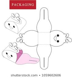 Packaging design vector illustration of box package template isolated white retail mock up boxpackage designvector illustration isolated mock packaging retail template vector white Diy And Crafts, Crafts For Kids, Diy Gift Box, Useful Origami, Origami Box, Box Design, Easter Crafts, Paper Art, Gift Wrapping