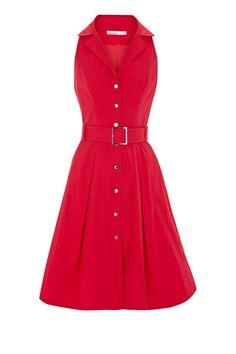 $108.99              Free Shipping  Karen Millen Colour block shirt dress red