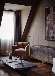 Romance on the Rhine: the Newly Opened Purs Hotel, with Interiors by Axel Vervoordt - Remodelista Wabi Sabi, Casa Hotel, Axel Vervoordt, Hotel Safe, Ensuite Bathrooms, Hotel Suites, Embassy Suites, Design Hotel, Guest Suite
