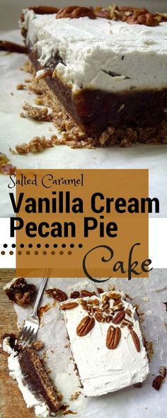 A raw vegan cake that combines pecan pie, salted caramel and a vanilla coconut cream icing all in one.