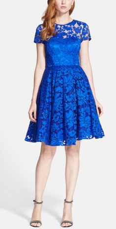 Blue lace dress by Ted Baker London http://rstyle.me/n/ndmc6n2bn