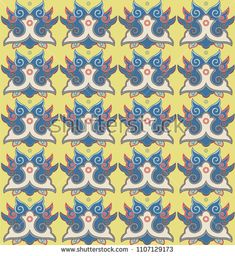 seamless pattern with stylised clouds in a Japanese style Japanese Patterns, Japanese Style, Kids Rugs, Clouds, Illustration, Image, Pictures, Japan Style, Kid Friendly Rugs