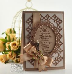 Spellbinders CHA Winter 2012 - Floral Circles and Damask Accents