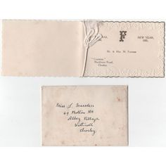 1930 Christmas Card Mr & Mrs Furness Embossed Edges/ Listing in the Christmas,Vintage Greeting Cards,Paper & Ephemera,Collectables Category on eBid United Kingdom | 152042465