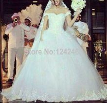 Vestido De baile querida fora do ombro Vestido De Novia importados Vestido De noiva Tulle Dubai vestidos De noiva com Appliqued MC85(China (Mainland))