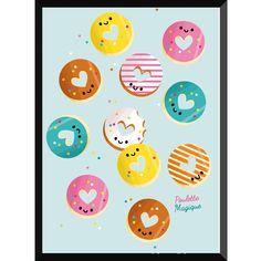 Affichette donut shop poulette magique