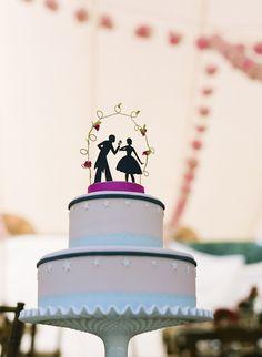 silhouette cake topper