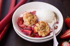 The Bojon Gourmet: Strawberry Rhubarb Bourbon Cobbler with Ginger Oat Scones