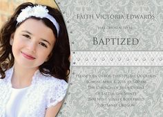 Wording for an LDS Baptism Invite. No, ours won't have rhinestones.