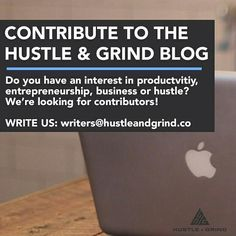 Want to write for the Hustle & Grind blog and be featured right here on Instagram? Send us an email writers@hustleandgrind.co -- We're looking for people who want to contribute content that can inspire the next wave of entrepreneurs hustlers and go-getters to achieve their dreams!