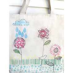 Whimsy Tote Bag Project by Claudine Hellmuth http://stampington.com/free-how-to-project-Whimsy-Tote-Bag-Project?filter_name=claudine%20hellmuth