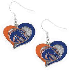 Boise State Broncos Women's Swirl Heart Earrings