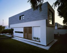 small contemporary homes with natural stone and wood exterior swimming ...